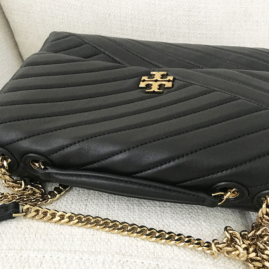 Tory Burch Kira Chevron Quilted Leather Shoulder Bag in Black image 5