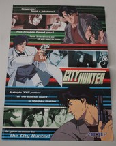 City Hunter Anime Promo Mini Poster Flyer 15x11 Double Sided ADV Films - $12.59