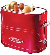 Nostalgia HDT600RETRORED Pop-Up 2 Hot Dog and Bun Toaster With Mini Tong... - £13.97 GBP