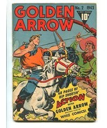 GOLDEN ARROW #2 1943-FAWCETT-GENE AUTRY-G/VG - $107.19
