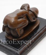 Antique Home Decor Bronze Sculpture shows Lady With A Phallus, signed * Free Air - $229.00