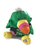 Fisher Price Puffalump Toucan Green Wild Hawaiian Shirt Plush Toy 1987 - $19.79