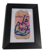 "Pamplemousse La Croix Framed Finished Cross Stitch 3.5"" x 5"""