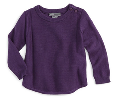 Vince Girls' Rack Stitch Sweater,Purple, Size 12 Months, MSRP $58 - $21.77