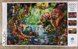 Buffalo Games Jigsaw Puzzle Tiger Lagoon 2000 Pieces 38.5 x 26.5 in. with Poster image 5