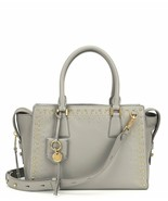 NWT Cole Haan Marli Leather Gold Studded Satchel Crossbody Shoulder Bag ... - $195.00
