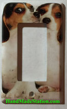 Beagle dog Light Switch Power Outlet Duplex Wall Cover plate Home decor image 2