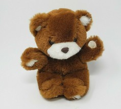 """8 """" Vintage 1984 Applause Puffy Ours Marron & Blanc Ourson Animal en Peluche - $32.59"""