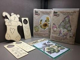 Lot of 7 PLAID Folk Art One Stroke Paint Kits Magic Canvas Wood Christmas - $28.22
