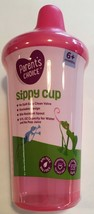 1 Sippy Cup Parents Choice 9oz 6+ month No Spill Easy Clean Valve You Pi... - $5.67
