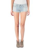 New Womens True Religion $188 Denim Jean Shorts USA Stripes Blue White 2... - $75.20
