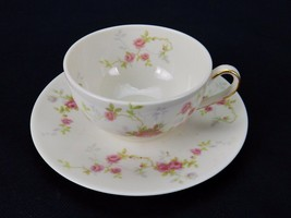 Theodore Haviland Touraine, Flat Cup & Saucer Made in America, New York - $9.75