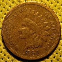 1869 Indian Head Cent. Rare semi-key date! - $90.00