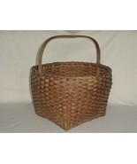 ANTIQUE WOVEN SHAKER BASKET W/ HANDLE & NATURAL FINISH - $175.00