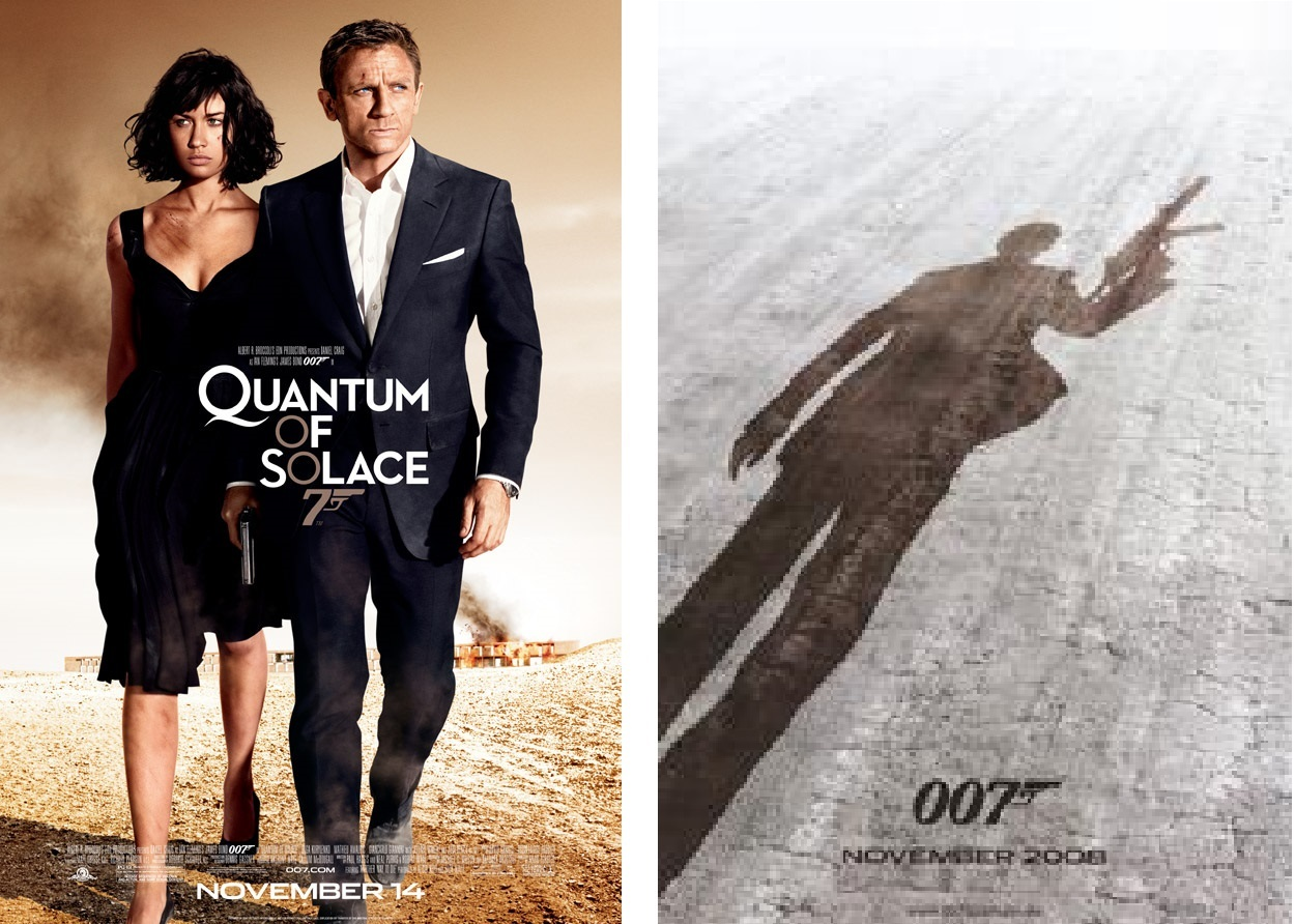 2 New 007 James Bond QUANTUM OF SOLACE Movie POSTERS 11x17 Daniel Craig Spy Hero