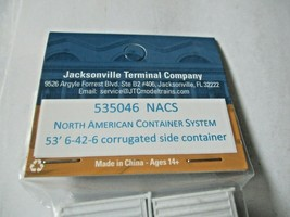 Jacksonville Terminal Company # 535046 NCAS 53' Container  N-Scale image 2