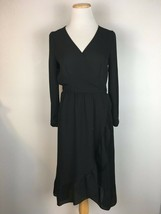 Old Navy Women's Classic Black Ruffled V-Neck Longsleeve Dress Size XS  - $13.85