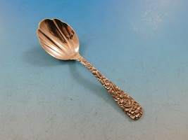 "Repousse by Kirk Sterling Silver Tea Caddy Spoon Fluted 4 1/4"" Antique   - $129.00"