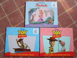 Vintage 1996 Walt Disney Cinderella & Toy Story Activity Books, full col... - $9.99