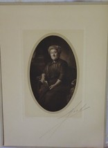 Vintage Photo Victorian Older Woman Signed Mock Studio Rochester NY 1900s - $4.77