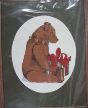 Bear With Gift Sealed Janlynn Counted Cross Stitch Kit Vintage Gloria & ... - $14.97