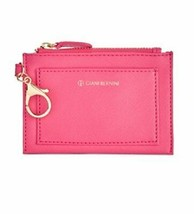 Giani Bernini Womens Faux Leather Keychain Coin Pouch Pink O/S - $16.90
