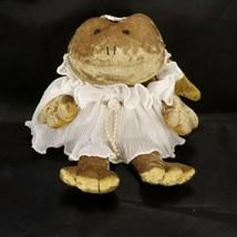 """Angelique Russ Frog Angel Plush Victorian Grace 10"""" Tall Handmade Stuffe... - $19.79"""