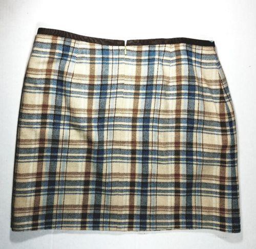 VINEYARD VINES BY SHEP & IAN MINI SKIRT PLAID Size 8 32 inches Wool Viscose EUC