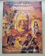 Gazetteer The Five Shires GAZ 8 9232 Dungeons & Dragons 1988 TSR Ed Greenwood - $113.80