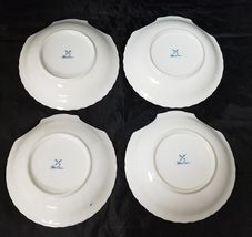 """Blue Onion Scallop Shell Bowls Set of 4 Clam Shell Plates 7""""×7"""" White, Swords image 11"""