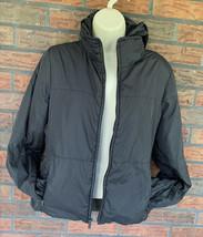 Banana Republic Jacket Medium Black Lightweight Warm Full Zip Pockets Hi... - $29.40