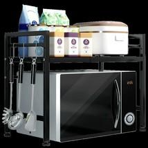 2-Tier Adjustable Microwave Oven Storage Organiser Rack Stand Shelf Kitc... - $22.92