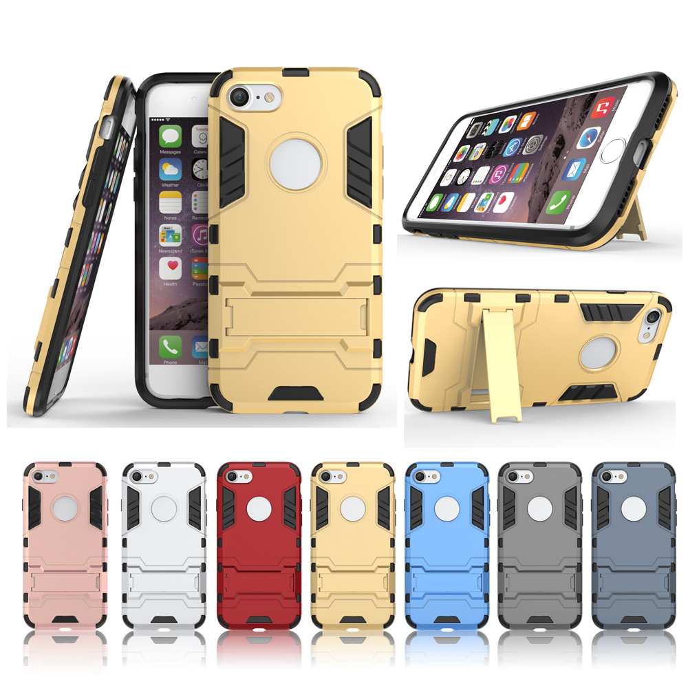 Slim Armor Shockproof Kickstand Protective Case for iPhone 7 4.7inch - Navy blue