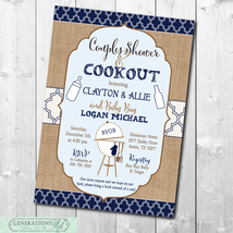 Couples Baby Shower Invitation printable/Digital File/Baby Q Invitation,... - $14.99