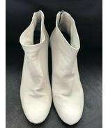 Women's Via Spiga Nadia Rear Zip Vero Cuoio Off White Ankle Booties Size 8M - $37.39