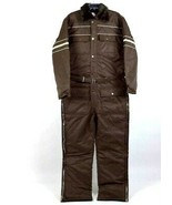 Vtg 80s Sears Snow Suit Coveralls Work Jumpsuit Quilt Lined Insulated Si... - $44.54