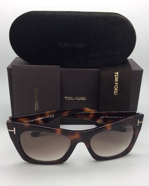 3bef3b8860a New TOM FORD Sunglasses KASIA TF 459 56F 55-19 Tortoise Gradient w  Brown