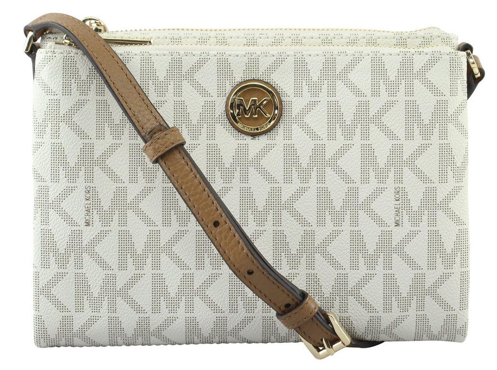 436bfc6abd Michael Kors Fulton Large EW Crossbody PVC Handbag MK Messenger Bag Vanilla  NWT