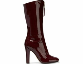 NEW VALENTINO Crimson Red Patent Leather Mid-Calf Boots (Size 38) - MSRP... - $599.95