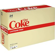 Diet Coke Caffeine Free Soda Soft Drink, 12 fl oz, 24 Pack