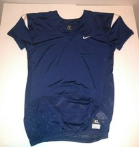 Nike Football Jersey XL Plain Stretch NWT Navy Blue - $15.83
