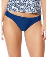 Jessica Simpson Women's Basic Solid Shirred Hipster Swim Bottoms Marine ... - $20.59