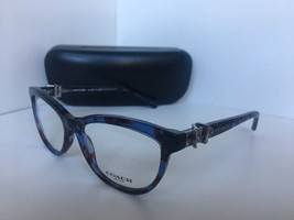 9000688d622 New COACH HC 6087 HC6087 5392 Blue Tortoise 53mm Rx Eyeglasses Frames -  £87.81 GBP