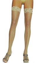 NEW LOT OF 6 LEG AVENUE WOMEN'S LACE THIGH HIGH HOSE STOCKINGS TIGHTS BEIGE 1011