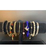 Vintage Lot Of 10 Bracelets (1105) - $12.00