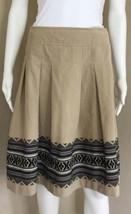 Ann Taylor LOFT Women's Skirt Sz 8 Pleated Brushed Cotton Aztec Design S... - $10.45