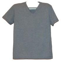 H&M Blue Stripes Cotton Men's Plain Solid V-neck T-Shirt Size L Good Con... - £6.78 GBP