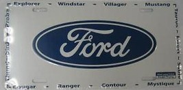 FORD LOGO ANODIZED CAR LICENSE  PLATE FREE USA  SHIPPING - $27.07