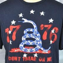 Dont Tread On Me Rattlesnake 1776 Retro T-shirt XL Patriot USA Gadsden T... - $14.45