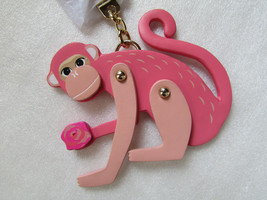 Kate Spade New York Keyring fob Leather Monkey NEW - $57.42